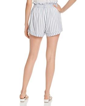 AQUA - Striped Paperbag-Waist Shorts - 100% Exclusive