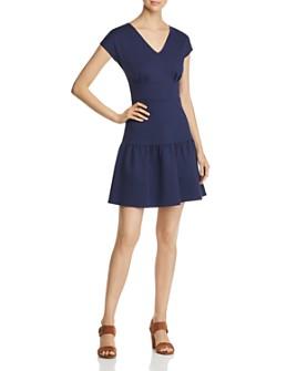 kate spade new york - Ponte Flounced Dress