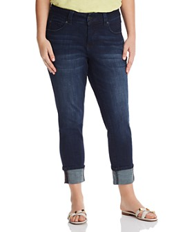 JAG Jeans Plus - Maddie Cuffed Skinny Jeans in Dark Indigo