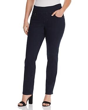 Jag Jeans Plus Peri Straight-Leg Jeans in Indigo