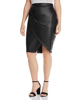 ca423ba711 Maree Pour Toi Plus - Faux Leather Tulip Skirt ...