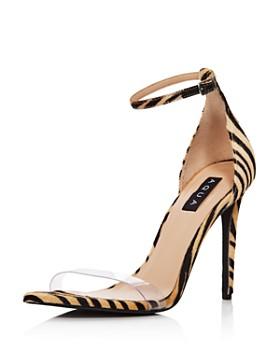 AQUA - Women's Siri Clear & Calf Hair High-Heel Sandals - 100% Exclusive