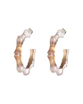 Alexis Bittar - Bamboo Hoop Earrings