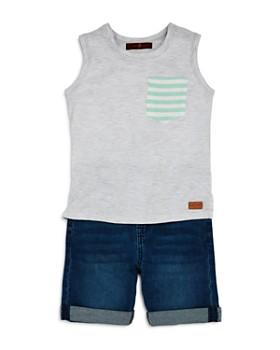 7 For All Mankind - Boys' Pocket Tank & Denim Shorts Set - Baby