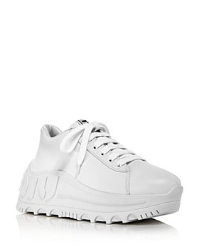 Miu Miu - Women's Wedge Heel Logo Sneakers