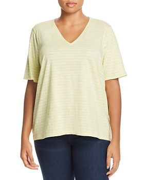 Eileen Fisher Plus - Striped Organic Cotton Tee