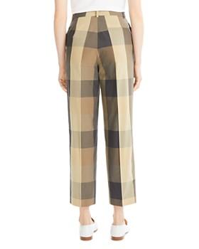 Theory - Cropped Straight-Leg Plaid Pants