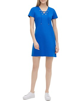 892c8928 Calvin Klein - Lace-Up Tee Dress ...