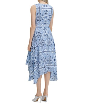 Calvin Klein - Printed Handkerchief-Hem Dress