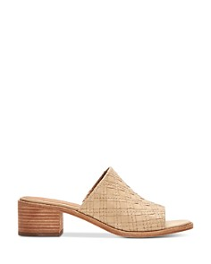 Frye - Women's Cindy Woven Leather Block Heel Sandals