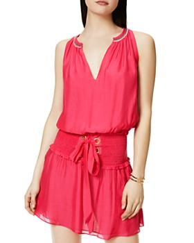 Ramy Brook - Fayth Smocked Drop-Waist Dress