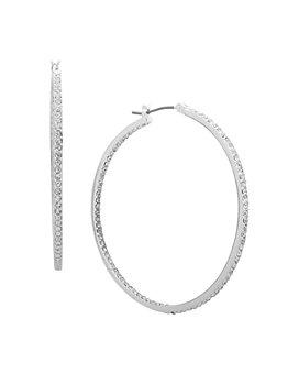 Ralph Lauren - Pavé Inside-Out Hoop Earrings