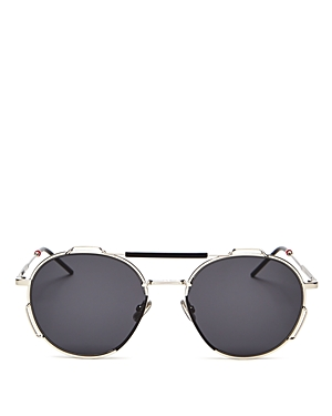 Dior Men\\\'s Brow Bar Round Sunglasses, 54mm-Jewelry & Accessories
