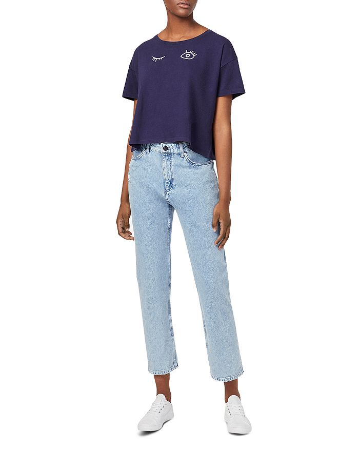 cddb27cf25a FRENCH CONNECTION Wink Graphic Cropped Tee | Bloomingdale's
