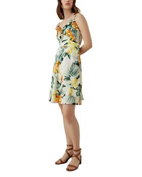 KAREN MILLEN - Tropical Floral Fit-and-Flare Dress