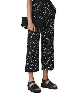 Whistles Kuba-Printed Linen Pants