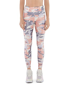 KORAL - Lustrous High-Rise Camo Leggings