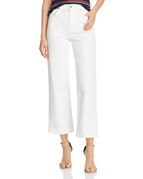 7 For All Mankind - Alexa Cropped Wide-Leg Corduroy Jeans