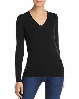 C by Bloomingdale's - V-Neck Cashmere Sweater - 100% Exclusive