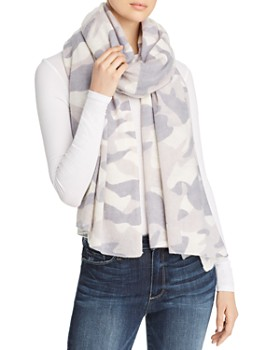 C by Bloomingdale's - Camo Cashmere Travel Wrap - 100% Exclusive