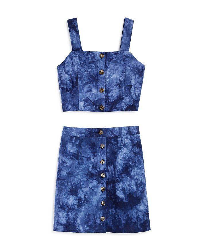 AQUA - Girls' Tie-Dyed Tank & Skirt, Big Kid - 100% Exclusive