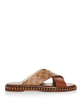COACH - Women's Hailey Crisscross Slide Sandals