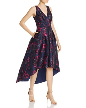 Aidan by Aidan Mattox - Jacquard High/Low Dress