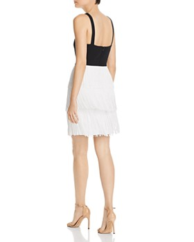 Aidan by Aidan Mattox - Tiered Fringe Cocktail Dress