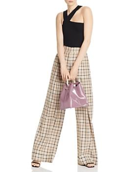 LNA - Ziggy Asymmetric Rib-Knit Top