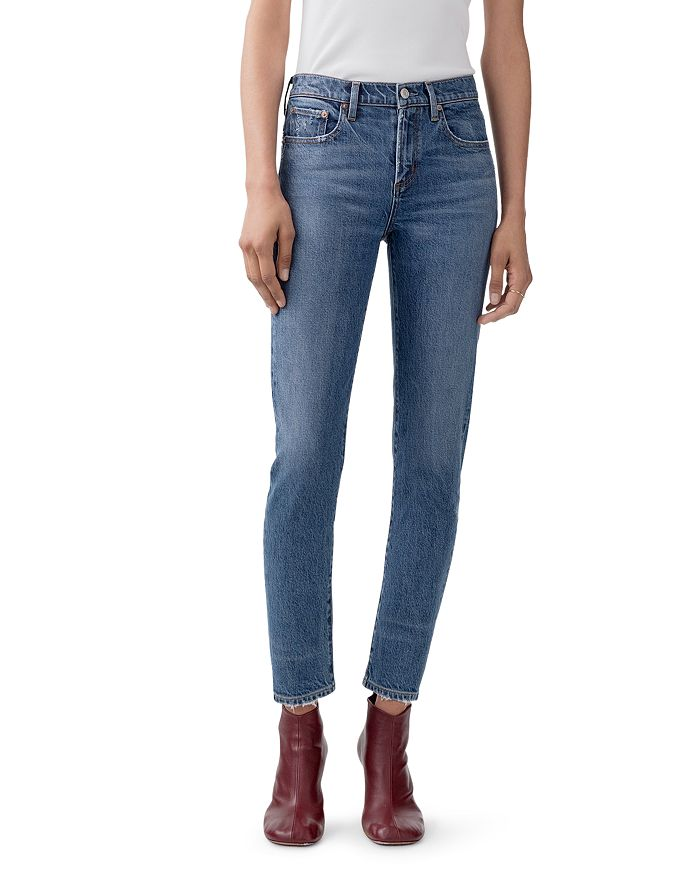 AGOLDE Toni Mid-Rise Ankle Skinny Jeans in Obscure | Bloomingdale's