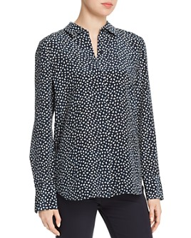 Lafayette 148 New York - Scottie Silk Geometric-Print Blouse