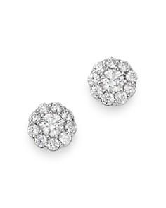 Bloomingdale's - Cluster Diamond Stud Earrings in 14K White Gold, 0.70 ct. t.w. - 100% Exclusive