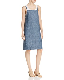 Eileen Fisher - Chambray Apron Dress