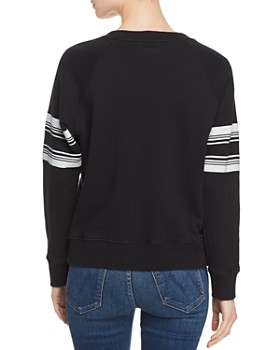 MOTHER - The Square Striped-Sleeve Sweatshirt