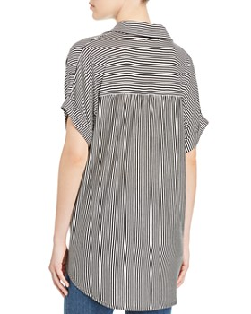 Kim & Cami - Striped Tie-Front Top