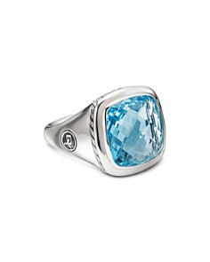 David Yurman - Sterling Silver Albion Ring with Blue Topaz