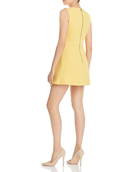 Alice and Olivia - Callie Asymmetric Draped-Overlay Dress