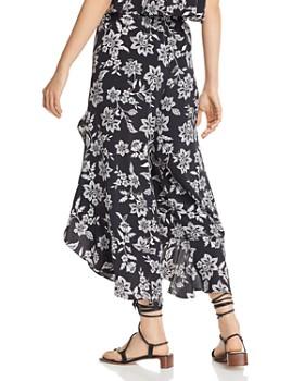 AQUA - Floral Cutaway Wide-Leg Pants - 100% Exclusives