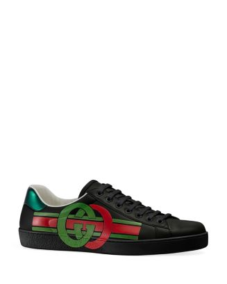 Men's Ace Interlocking G Lace Up Sneakers by Gucci