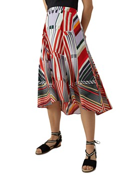 640150b20f4f KAREN MILLEN - Abstract-Print Midi Skirt ...