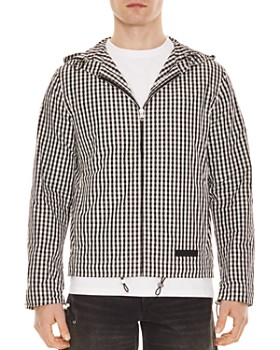 Sandro - Gingham Hooded Jacket