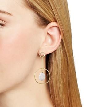 AQUA - Floating Cultured Freshwater Pearl Drop Earrings - 100% Exclusive