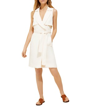 HALSTON - Trench-Style Shirt Dress