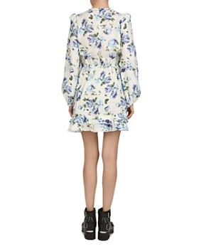The Kooples - Antique Flowers Linen Mini Dress