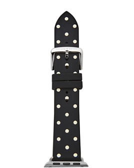 kate spade new york - Black Dot Leather Band for Apple Watch®, 42mm & 44mm
