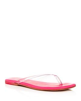 TKEES - Women's Lily Clear Flip-Flops