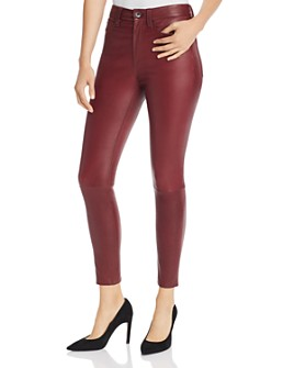 rag & bone - Nina High-Rise Ankle Skinny Leather Pants