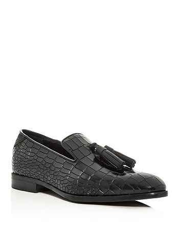 Jimmy Choo - Men's Foxley Croc-Embossed Leather Smoking Slippers