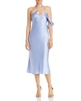 Michelle Mason - One-Shoulder Silk Midi Dress
