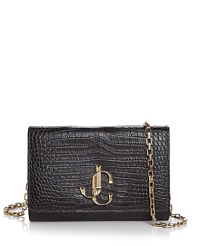 Jimmy Choo - Varenne Crocodile-Embossed Leather Wallet on Chain